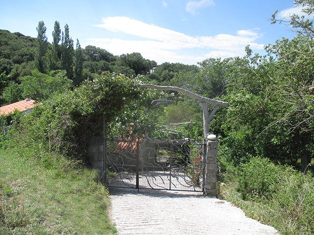 Entrance to the estate